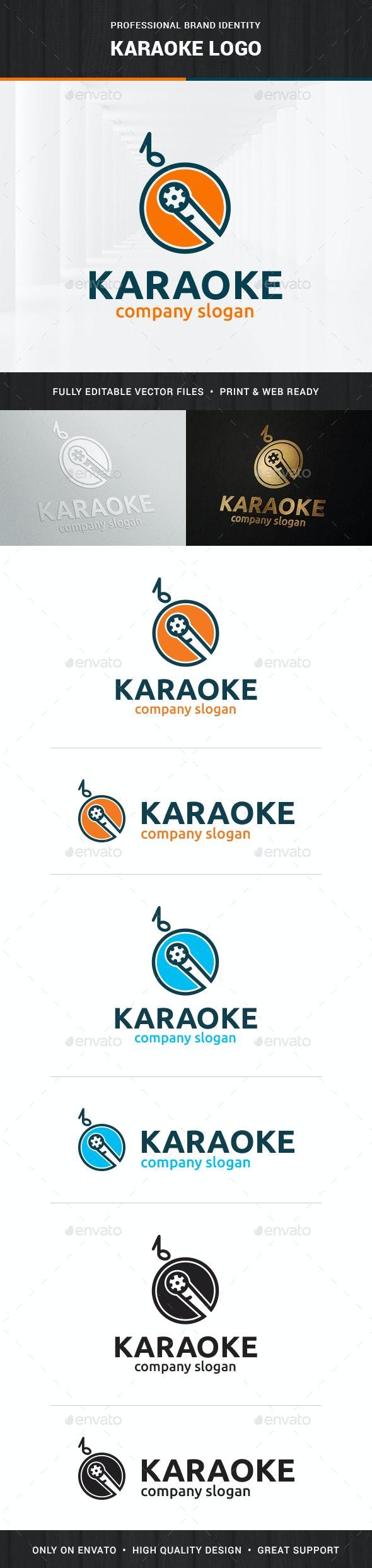 Karaoke Logo Template - Objects Logo Templates