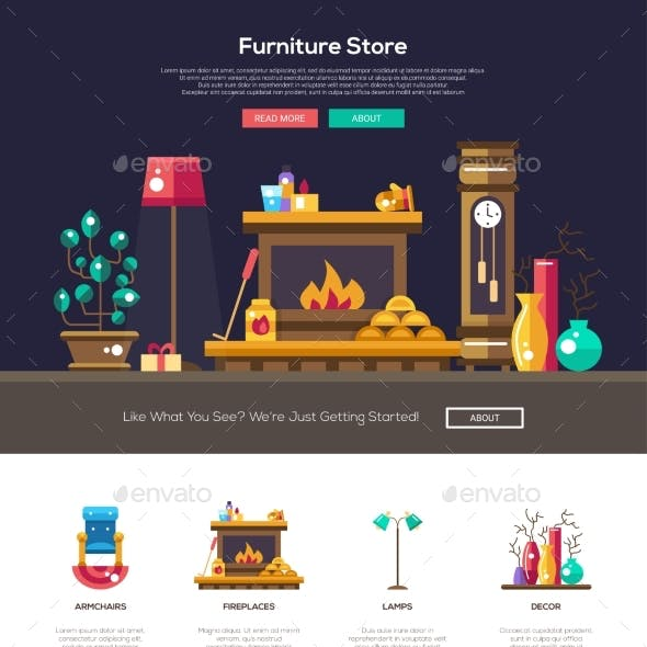 House Interior Store Website Header Banner