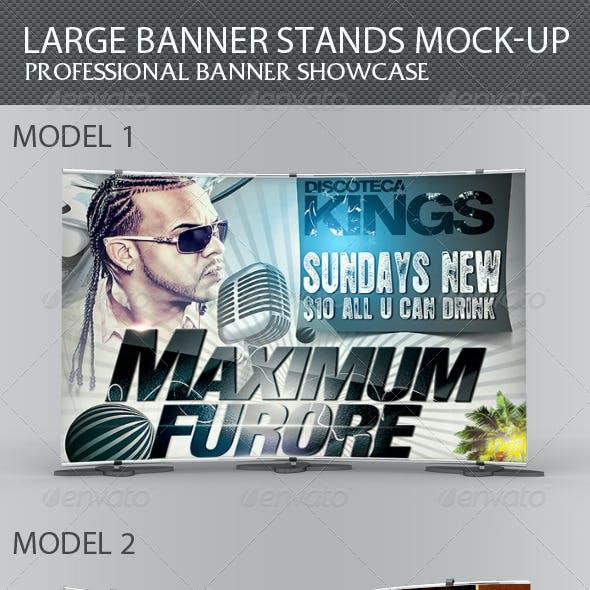 Large Banner Stands Mock-up