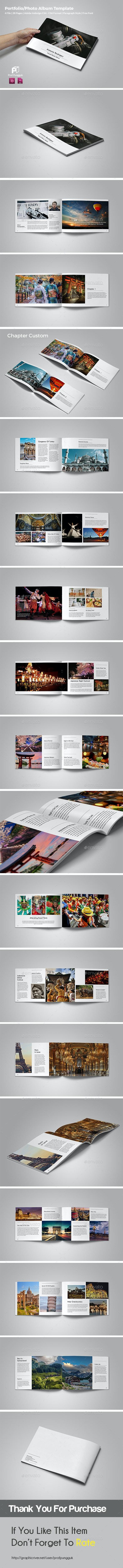 Photography Portfolio/Photo Album (landscape) vol.4 - Photo Albums Print Templates