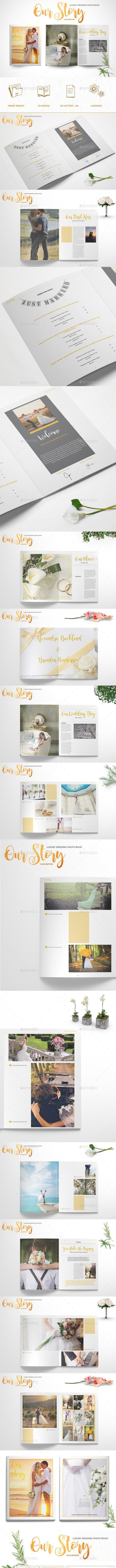 Luxury Wedding Photo Book - Photo Albums Print Templates