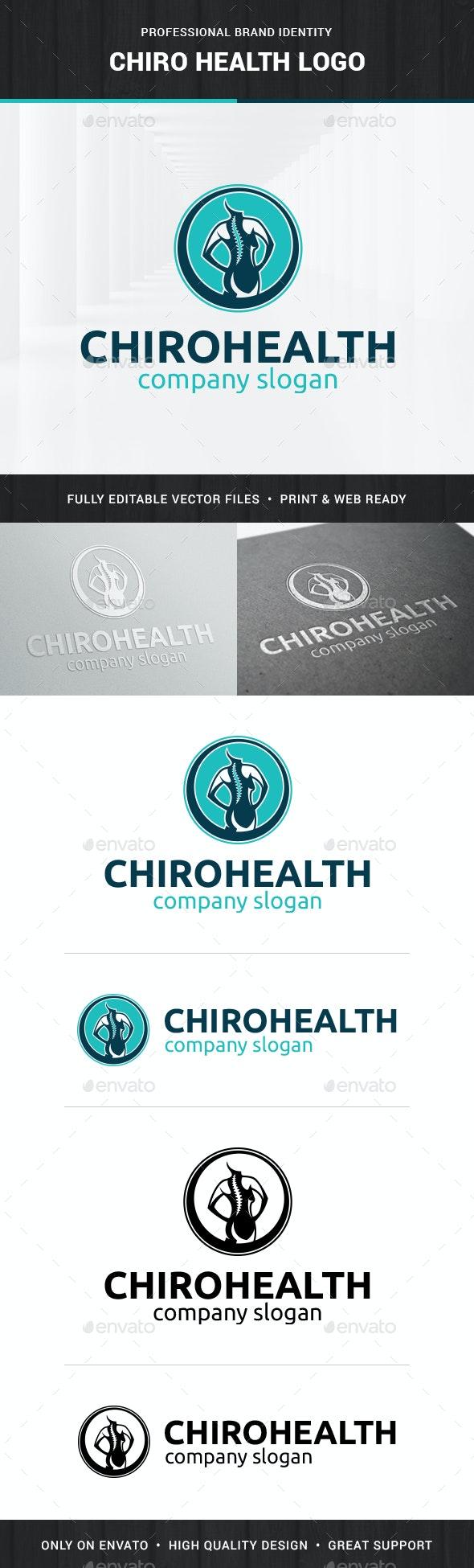 Chiro Health Logo Template - Humans Logo Templates