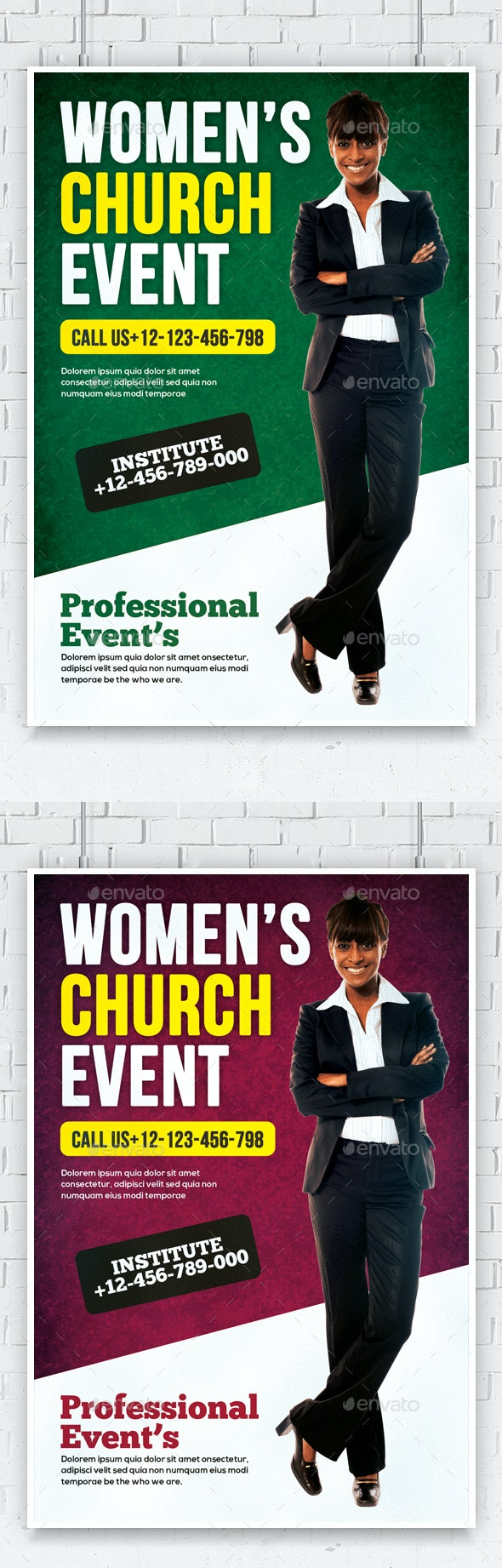 Women Conference Flyer Template - Church Flyers