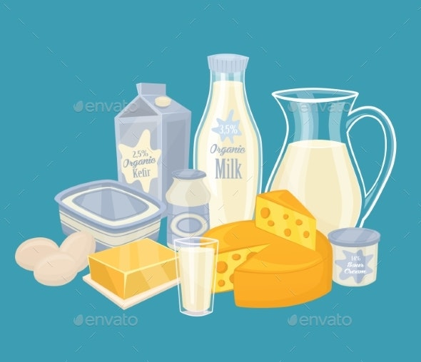 Dairy Products Isolated - Food Objects