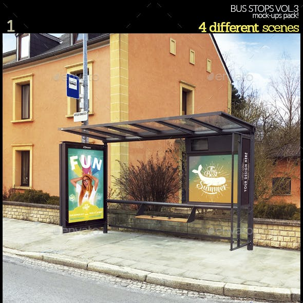 Bus Stops Vol.3 Mock-Ups Pack