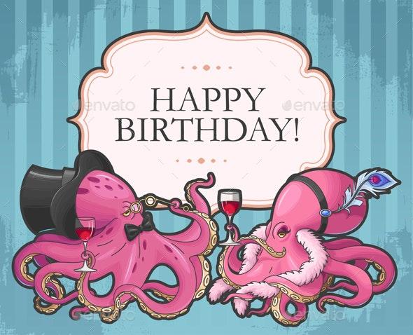 Retro Birthday Card - Birthdays Seasons/Holidays