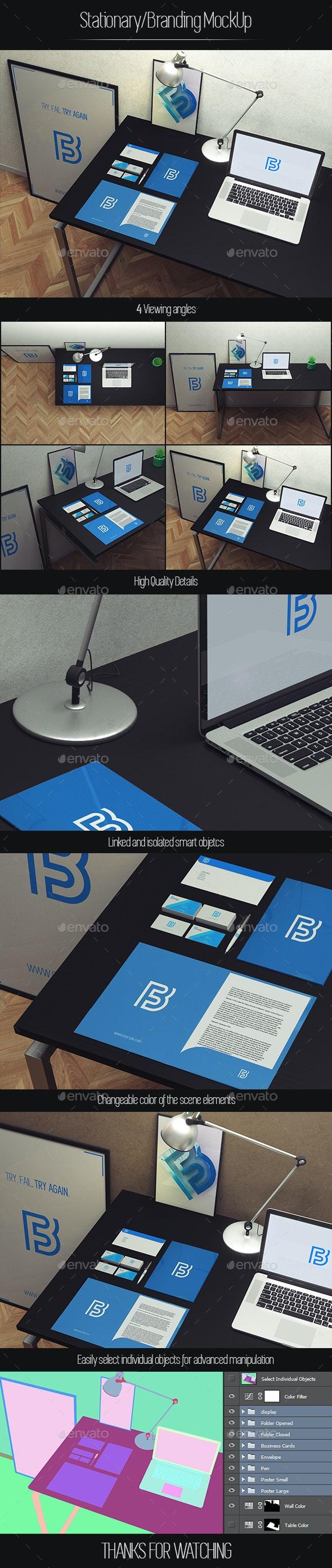 Stationary / Branding Mockup - Product Mock-Ups Graphics