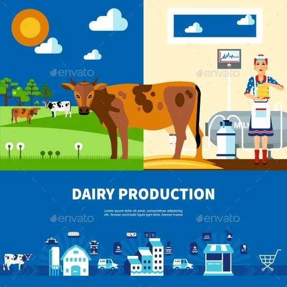 Dairy Production Set - Business Conceptual