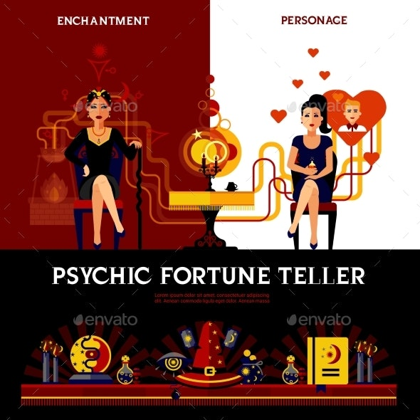 Psychic Fortune Teller Concept - Business Conceptual