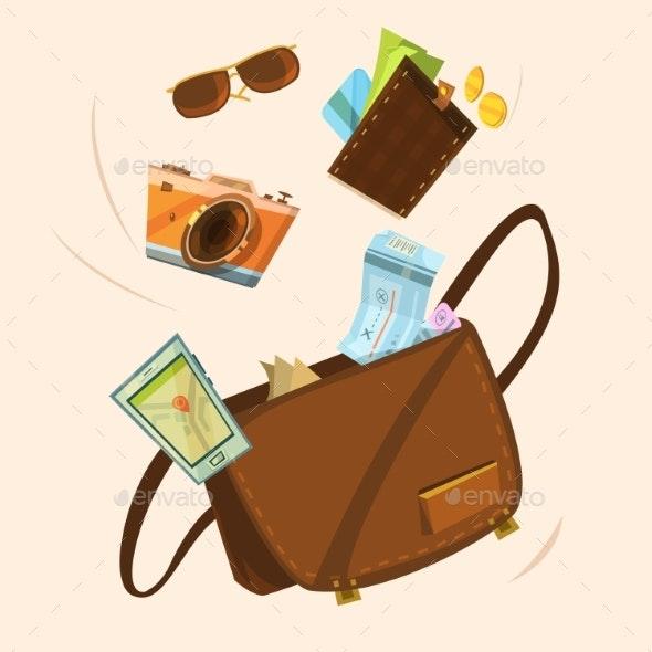 Tourist Bag Concept  - Travel Conceptual