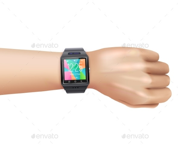 Smart Watch on Hand - Computers Technology
