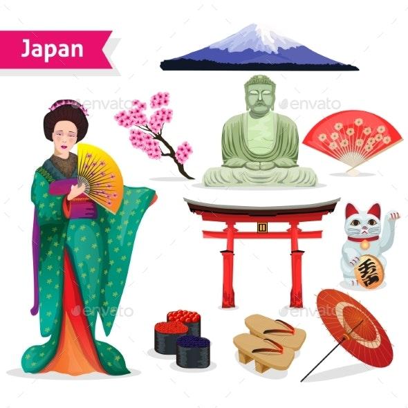 Japan Touristic Set - Travel Conceptual