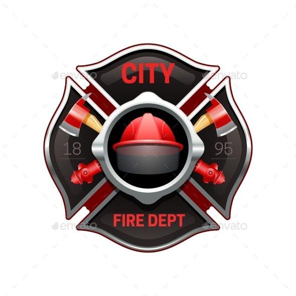 Fire Department Emblem Realistic Image