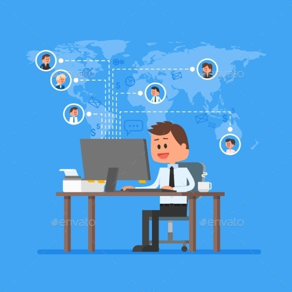 Remote Team Working Concept - Concepts Business