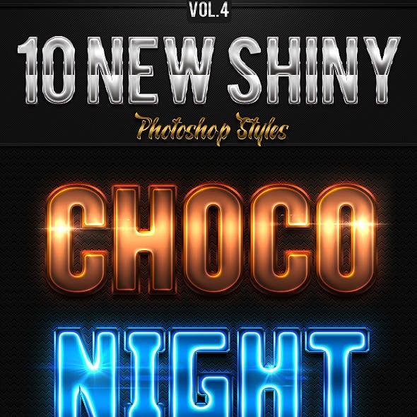 10 New Shiny Photoshop Styles Vol.4