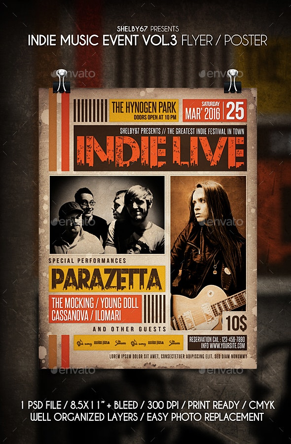Indie Music Event Flyer / Poster Vol 3 - Events Flyers