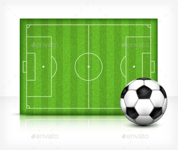FootBall Soccer Field with Ball - Sports/Activity Conceptual