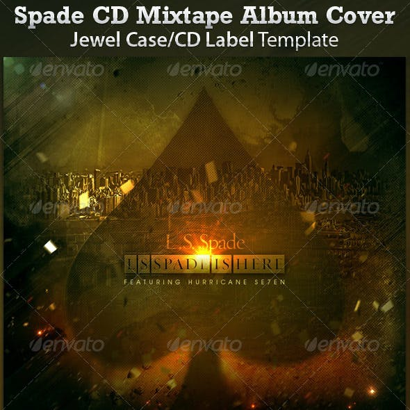 Spade CD Cover Mixtape Template