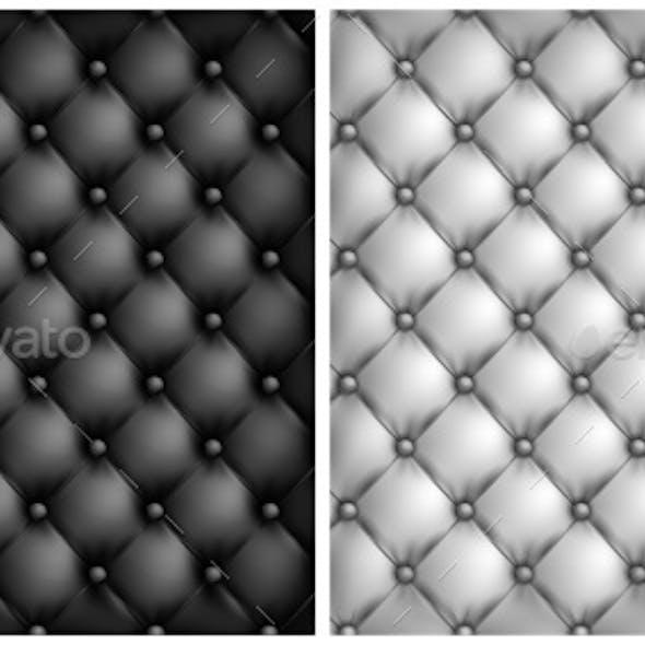 White Black Leather Upholstery Background