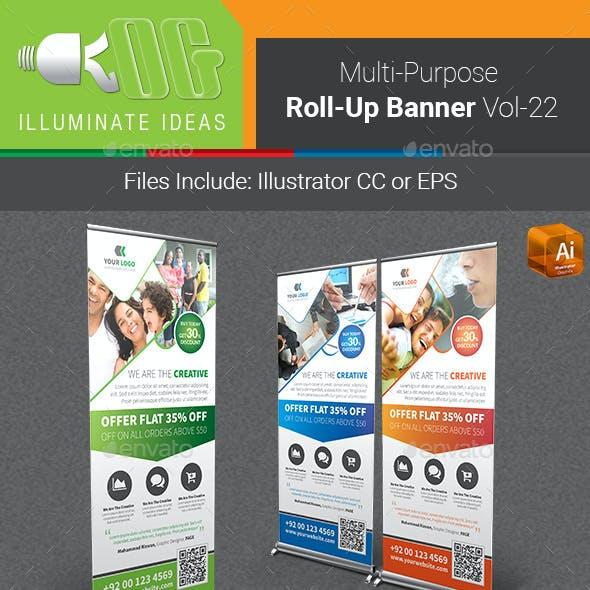 Multipurpose Business Roll-Up Banner Vol-22