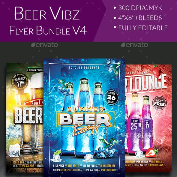 Beer Party Flyer Bundle