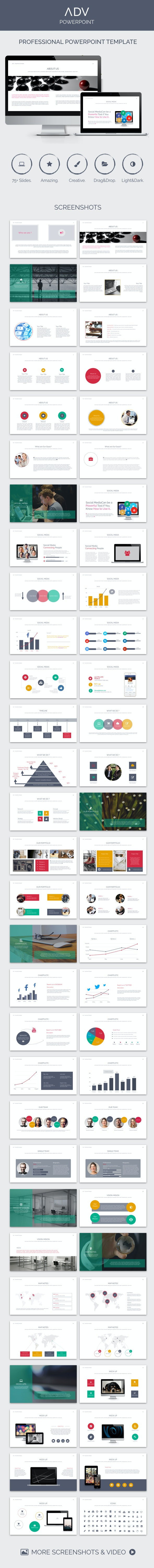 ADV PowerPoint Template - Creative PowerPoint Templates