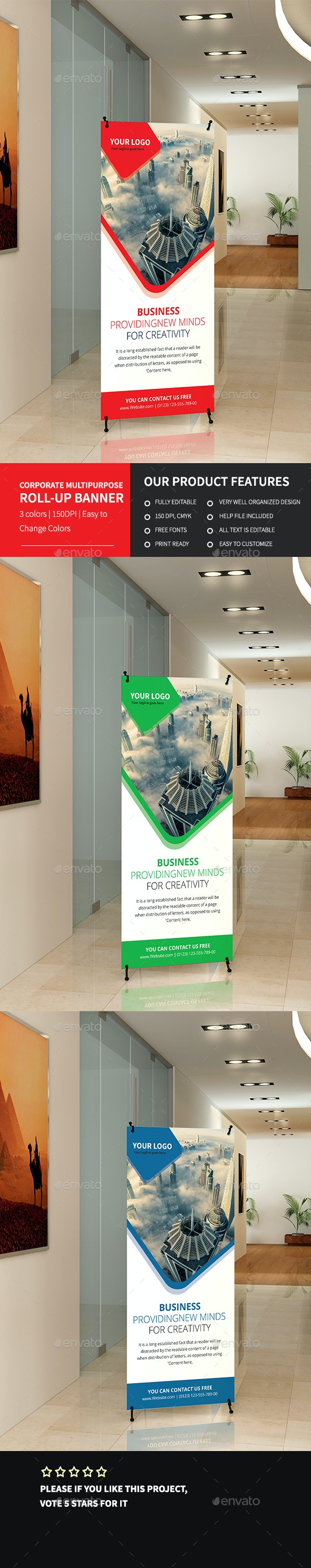 Corporate Multipurpose Roll-up Banner 1 - Signage Print Templates
