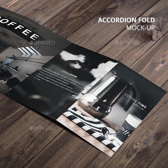 Accordion Fold Brochure Mock-Up