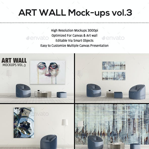 Art Wall Mockup VOL.3