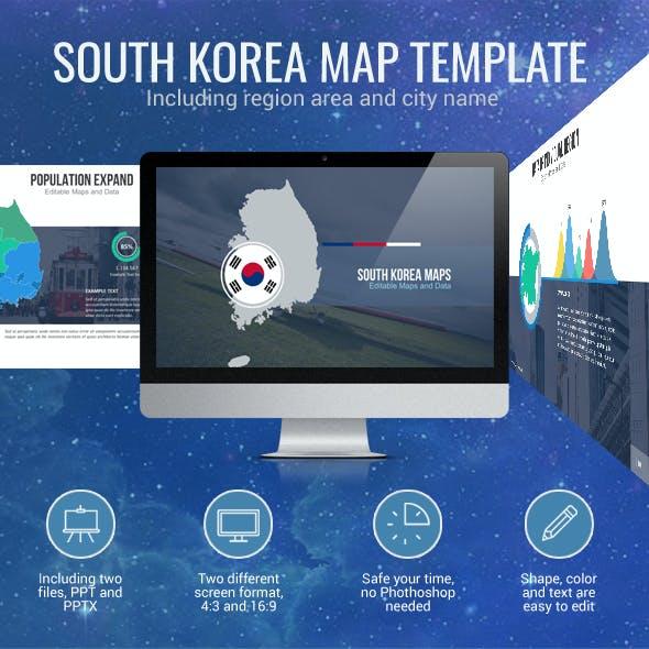 South Korea - Editable Map Presentation