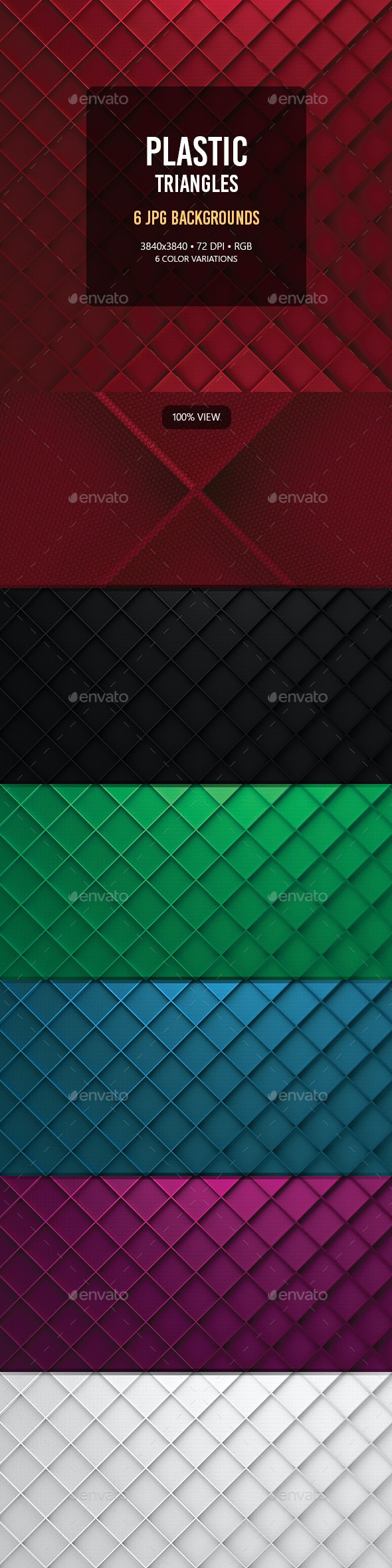 Plastic Triangles - Abstract Backgrounds
