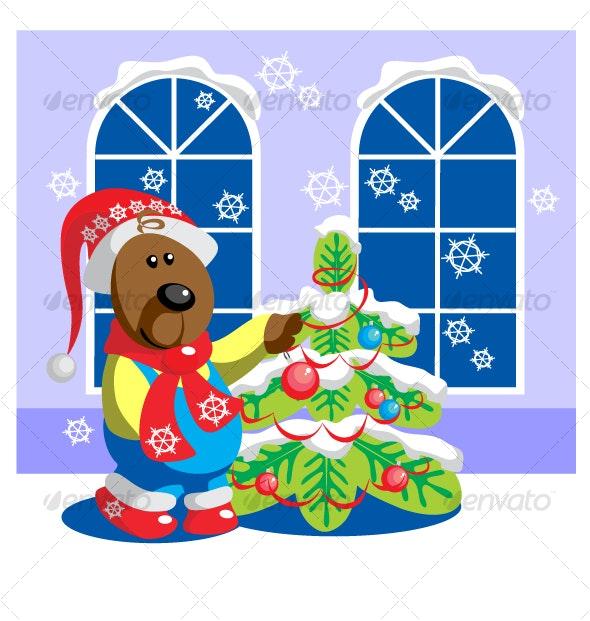 Bear ready xmas color 15 - Seasons/Holidays Conceptual