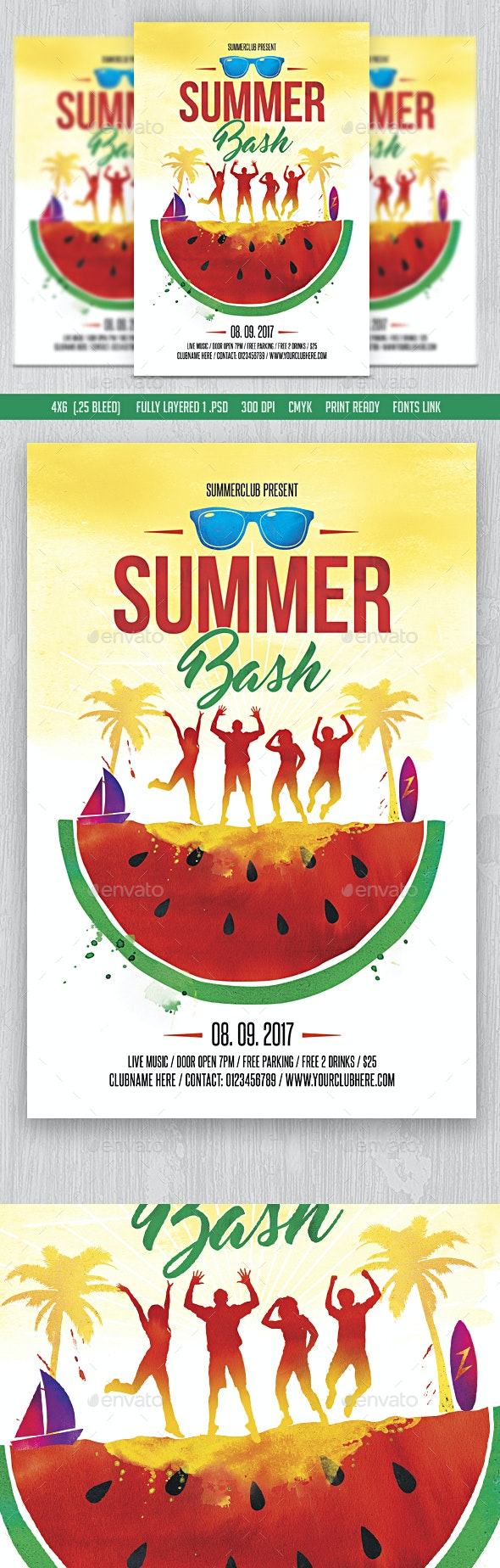 Summer Bash Flyer - Clubs & Parties Events