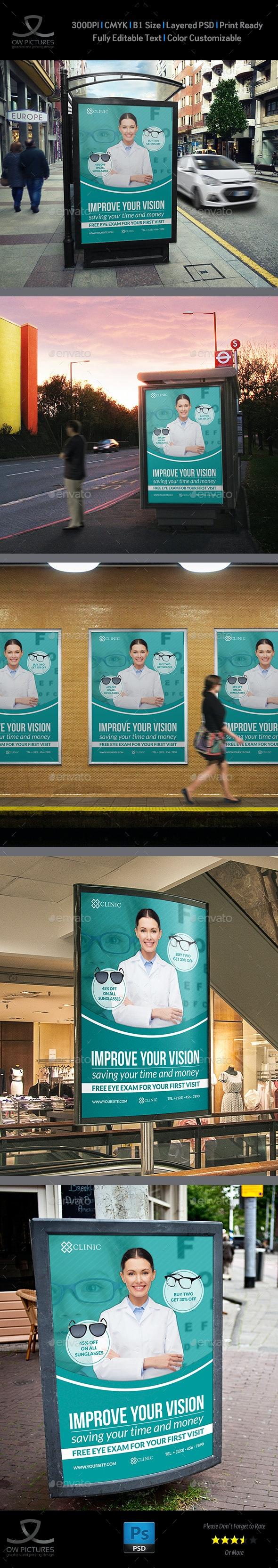 Optometrist & Optician Poster Template - Signage Print Templates