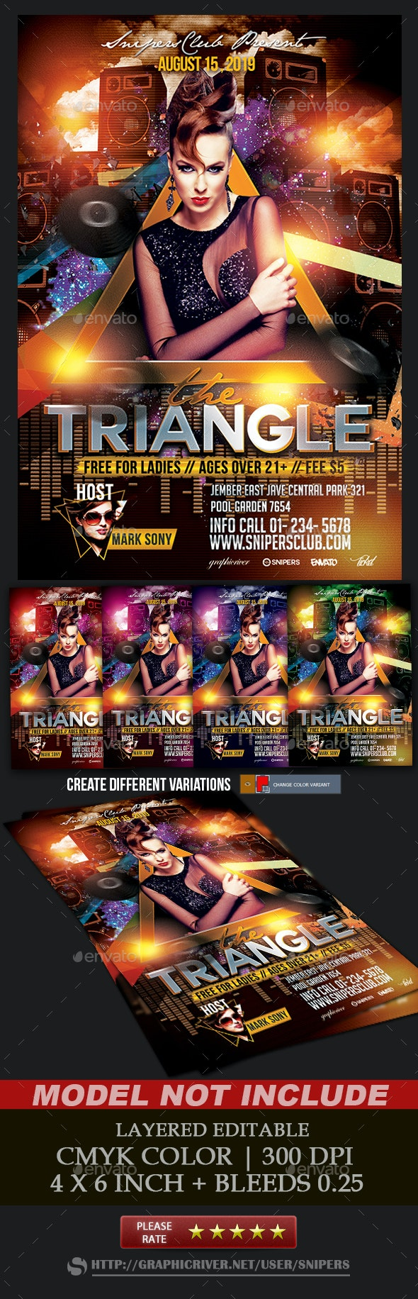 Triangle Party - Events Flyers