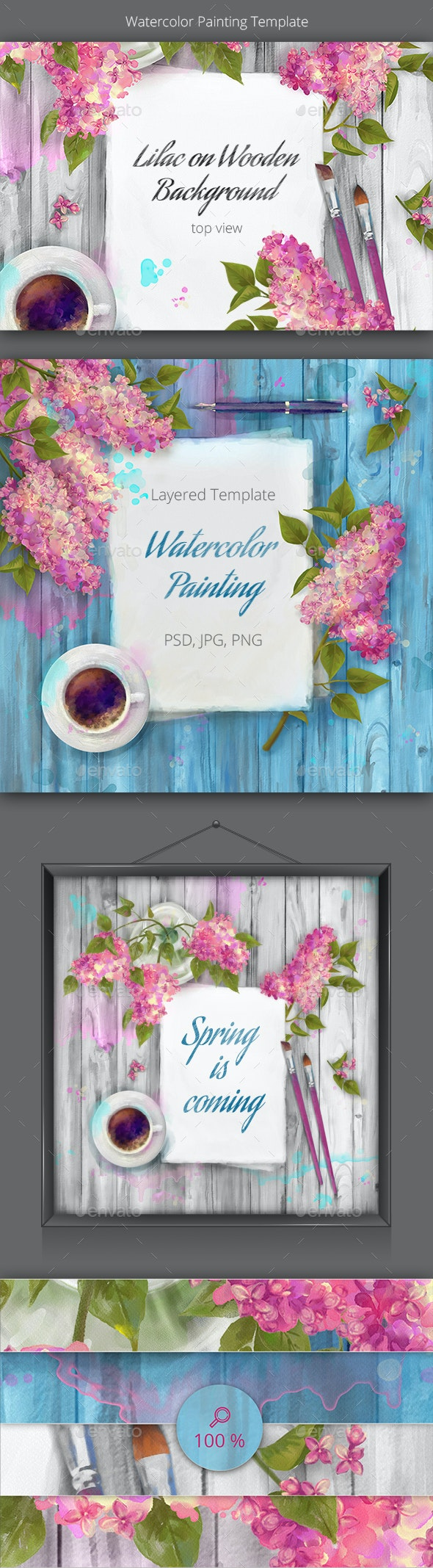 Watercolor Spring - Backgrounds Decorative