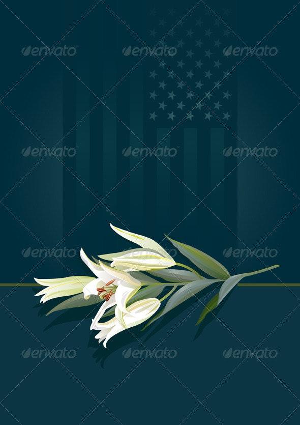 Floral tribute – patriotic - Flowers & Plants Nature