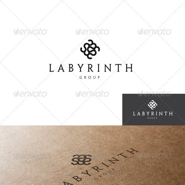 Abstract and Labyrinth Logo