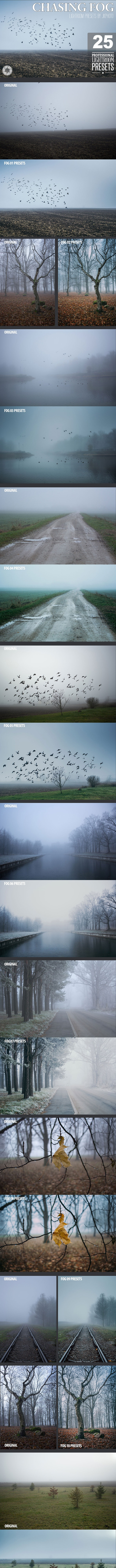 25 Chasing Fog Lightroom Presets - Landscape Lightroom Presets