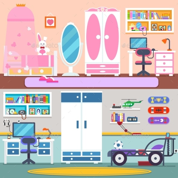 Boy Girl Bedroom and Workspace - Sports/Activity Conceptual