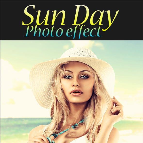 Sun Day Photo Effect