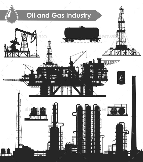 Oil Industry Set - Industries Business