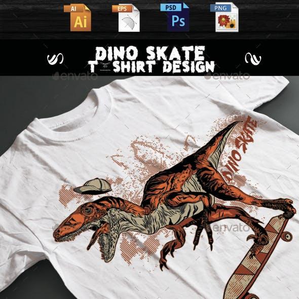 DINO SKATE T-shirt design