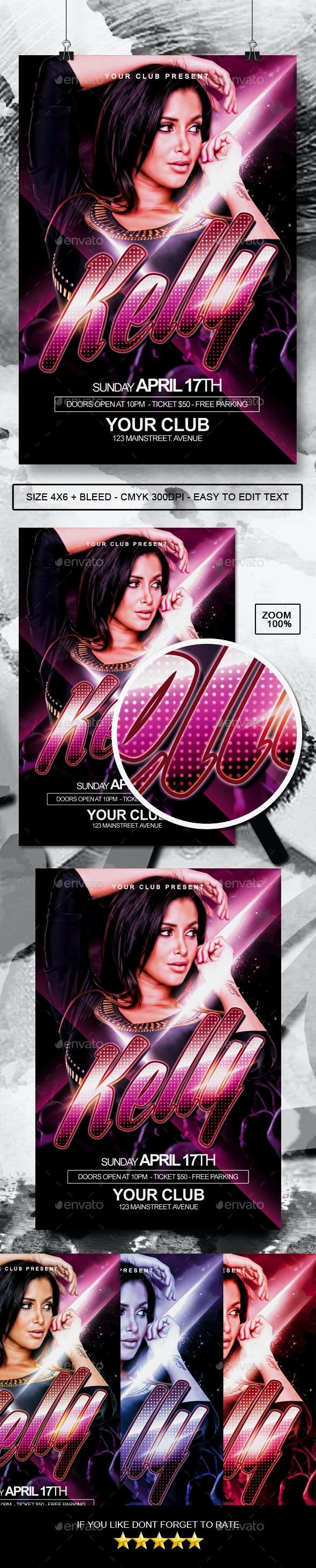 DJ Artist / Concert Flyer - Clubs & Parties Events
