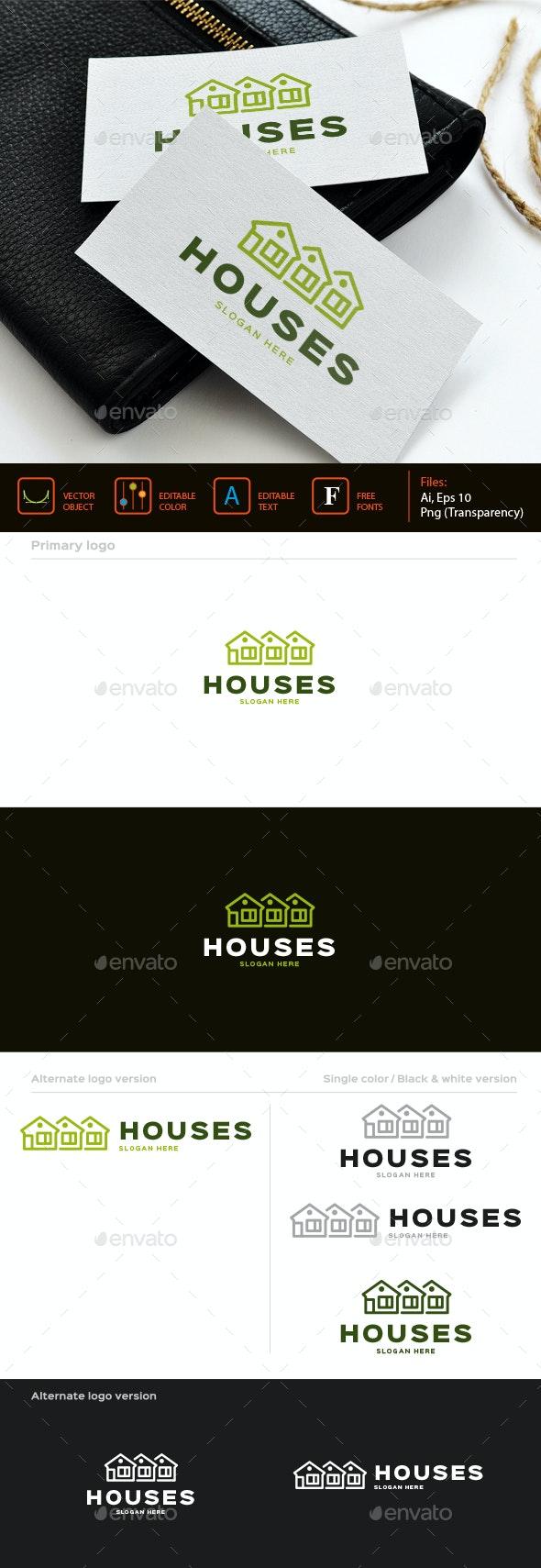 Houses logo - Buildings Logo Templates