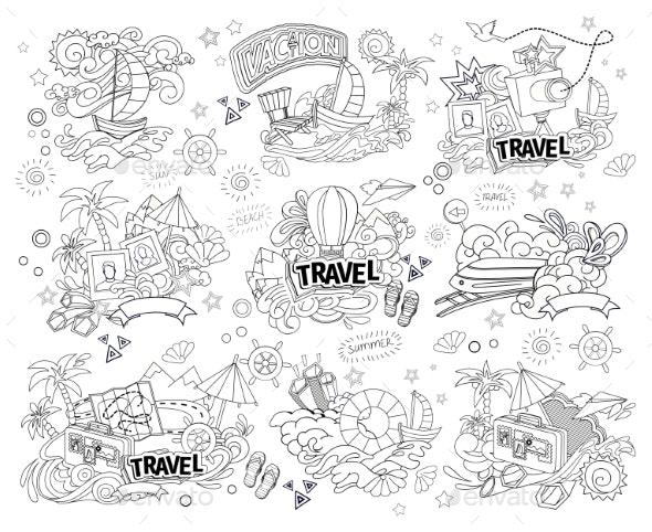Travel Illustration - Travel Conceptual