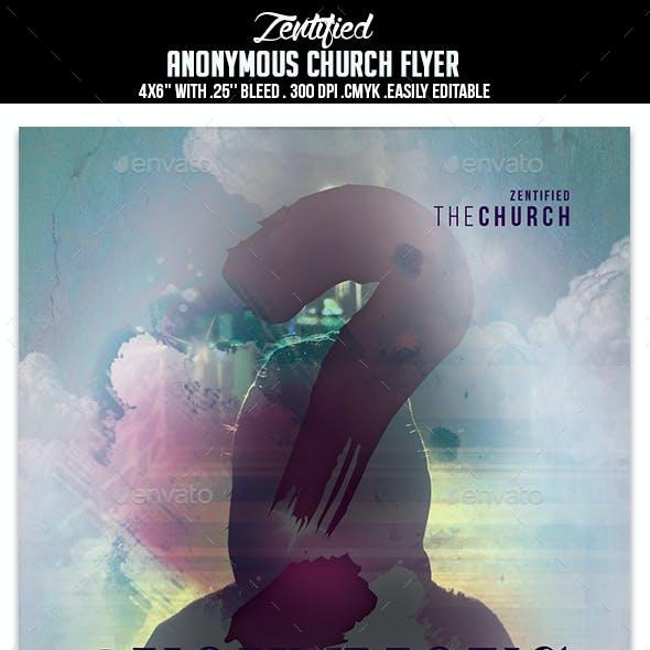 Anonymous Church Flyer