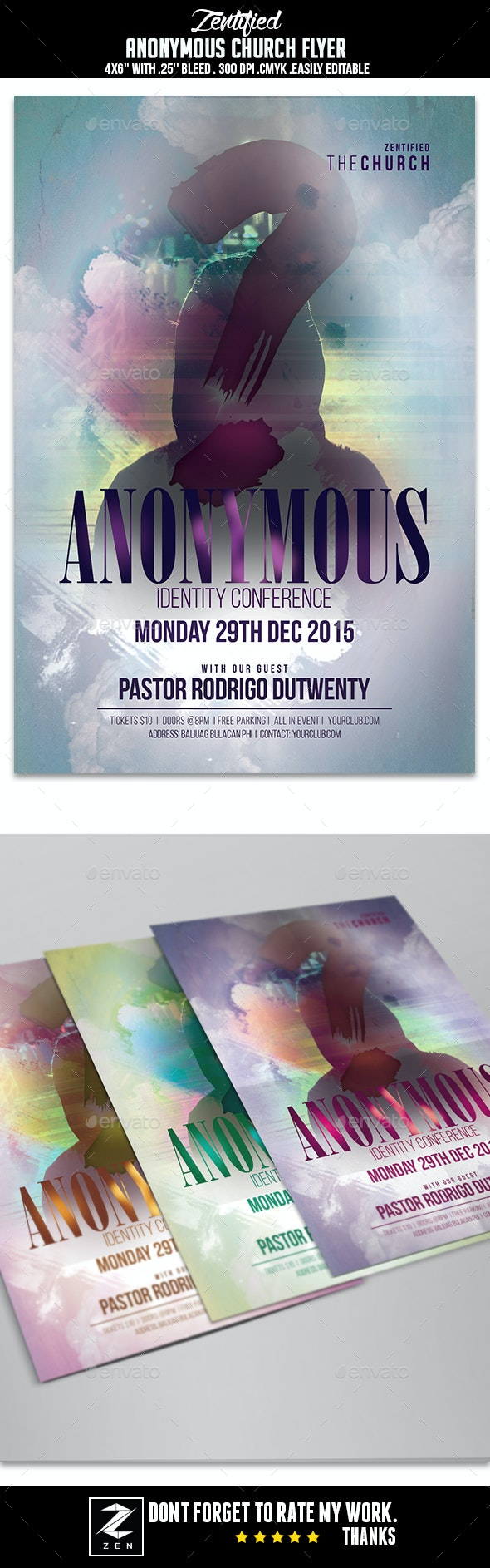 Anonymous Church Flyer - Events Flyers