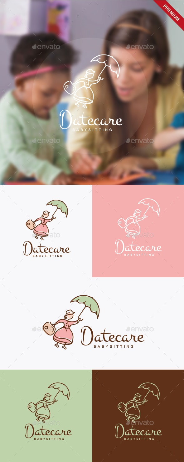 Daycare Babysitting Logo - Humans Logo Templates