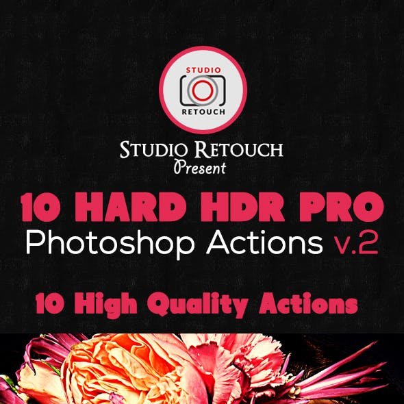 10 Hard Hdr Pro Photoshop Actions [Vol.2]